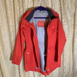 New Athleta red orange rain coat